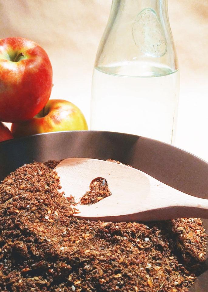 Mash für Pferde ohne Getreide und Zucker