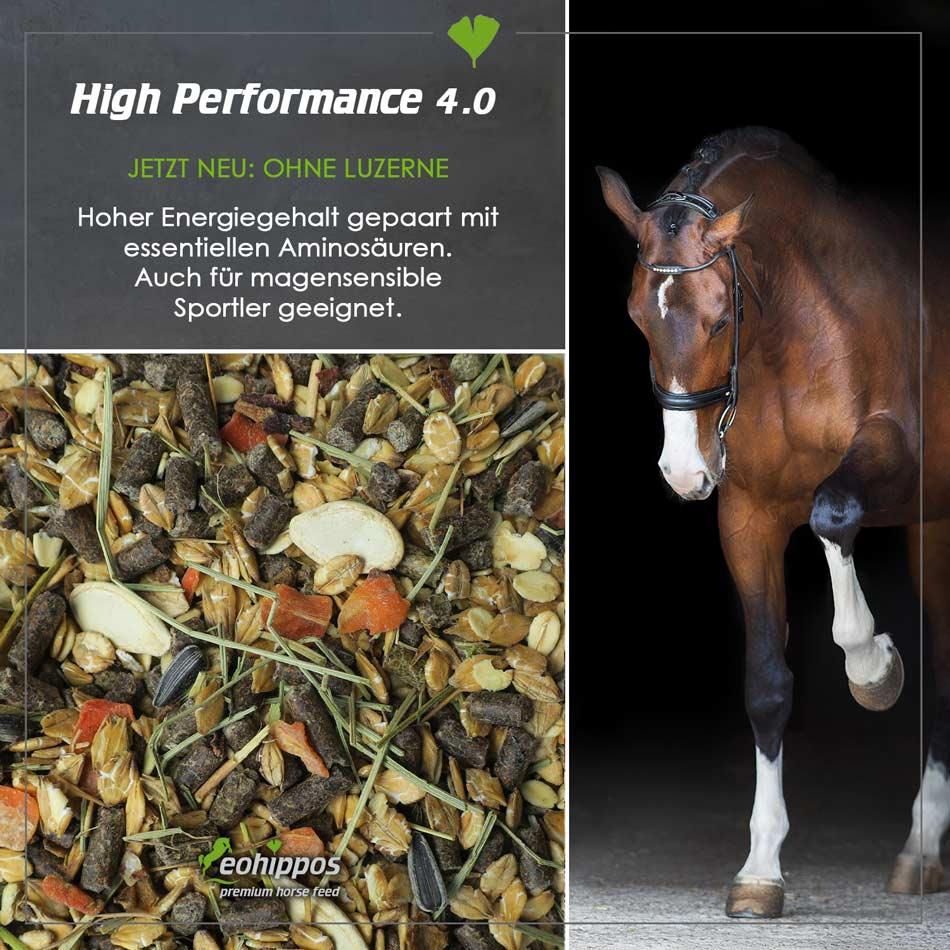 High Performance 4.0 - Eohippos Pferdefutter kaufen für Sportpferde Müsli