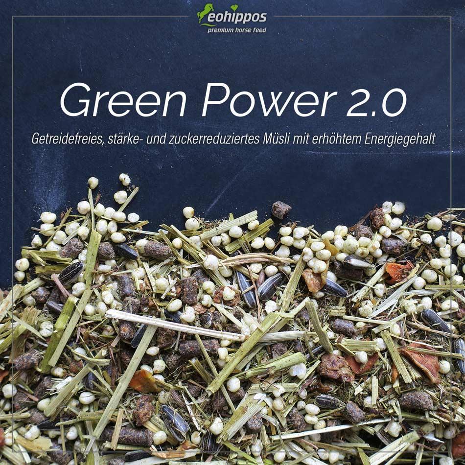 Eohippos Green Power - getreidefreies Pferdefutter mit Energie